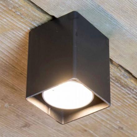 Llambë artizanale në hekur të zi me formë kubike prodhuar në Itali - Cubino