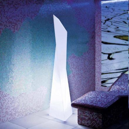 Llambë e jashtme e bardhë në formë prizmi Slide Manhattan, prodhuar në Itali