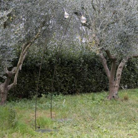 Llambë Artizanale e Jashtme në Hekur dhe Xham Dekorativ Prodhuar në Itali - Beba