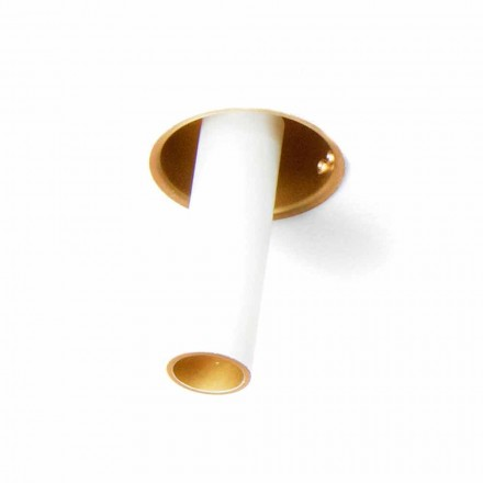 Llambë Recesed Artizanale në Alumini i Rregullueshëm, prodhuar në Itali - Adra