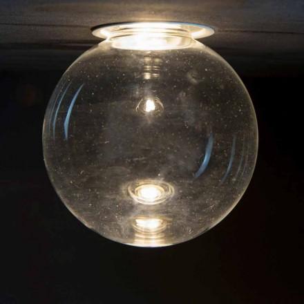 Llamba e mbyllur prej alumini me xham dekorativ prodhuar në Itali - Ampolla