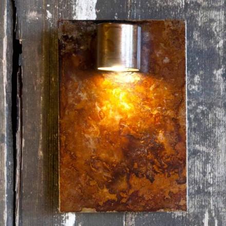 Llambë Muri artizanale në Finish Hekuri Corten Prodhuar në Itali - Cialda