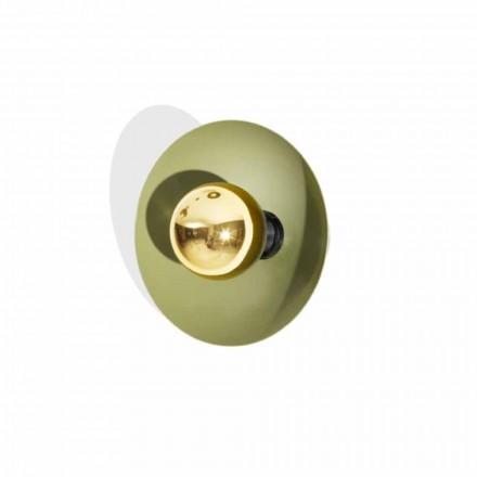 Llambë muri me dizajn modern në metal me dekor ari prodhuar në Itali - Valta