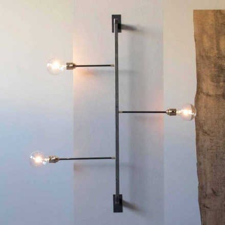 Dizajn llambë muri me strukturë hekuri të zi prodhuar në Itali - Anima
