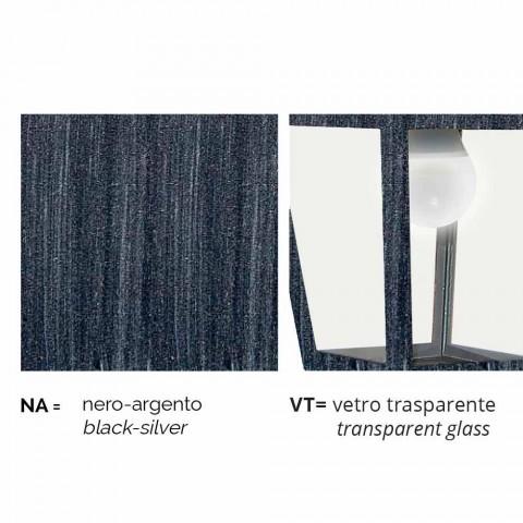 Llambë muri në natyrë në alumin, e bërë në Itali, Kristel