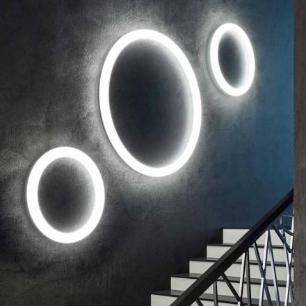 Llambë Muri LED Rrumbullakët Moderne e Prodhuar në Itali në Polietileni - Rrëshqitje Giotto