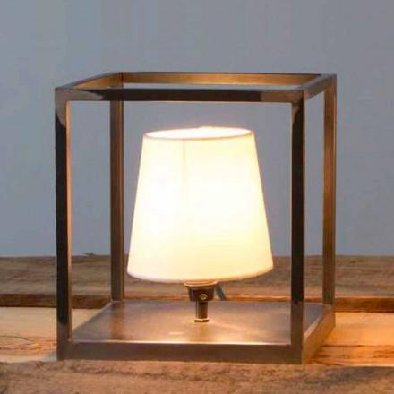 Llambë tavoline prej hekuri të punuar me dorë me abazhur të prodhuar në Itali - Cubola