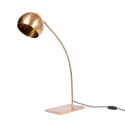 Llambë tryeze e punuar me dorë në hekur dhe bronzi të djegur prodhuar në Itali - Brina