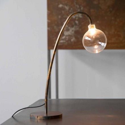 Llambë tavoline prej hekuri e punuar me dorë Finish Gold prodhuar në Itali - Ribolla