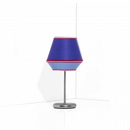 Llambë blu tryeze me strukturë metalike të kromuar prodhuar në Itali - sojë