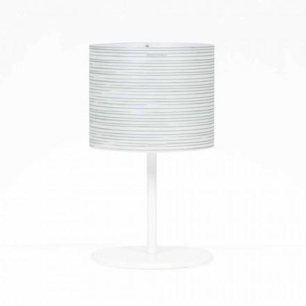 Llambë tavoline dizajni modern Debby, me dekorim modern, diamant 30 cm