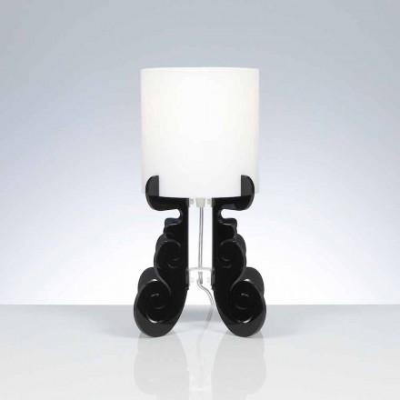 Llambë tavolinë moderne modeli Samanta me shirit llambë cilindrike 18,5 cm cm