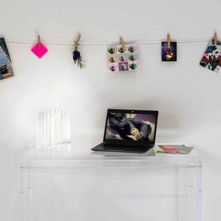 Llambë tavoline Designer bërë nga pleksiglasi Ketty, e bërë në Itali