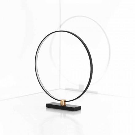 Dizajn llambë tryeze në alumin të zi dhe tunxh prodhuar në Itali - Norma