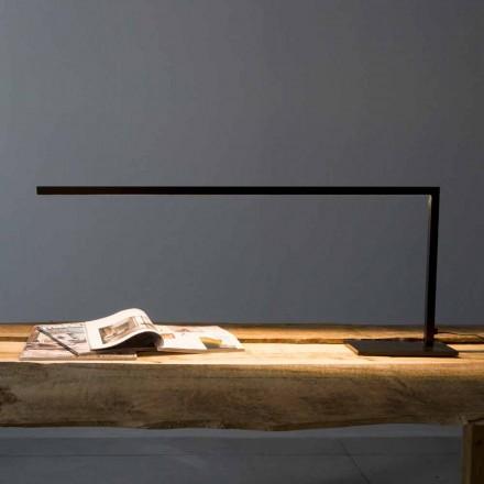 Dizajn llambë tryeze në hekur të lyer me të zezë Matt prodhuar në Itali - Linea