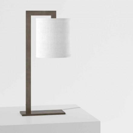 Dizajn llambë tryeze në metal dhe liri të bardhë prodhuar në Itali - Bali