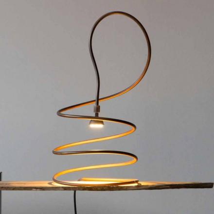 Dizajni Llambë Tavoline në Efekt të Djegur nga Bakri Prodhuar në Itali - Fusillo