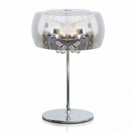 Llambë Tabela Dizajni në Qelqi, Kristal dhe Metal i Kromuar - Cambria