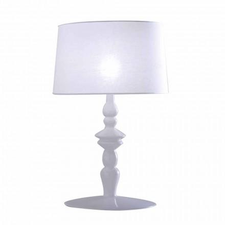Llamba e tavolinës në dimensione të bardha qeramike dhe llamarina prej liri 2 - Kadabra