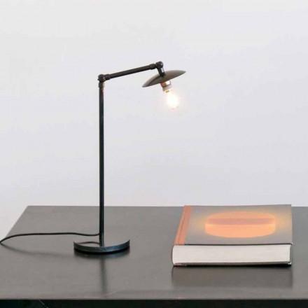 Llambë tavoline hekuri me dritë të rregullueshme prodhuar në Itali - Amino