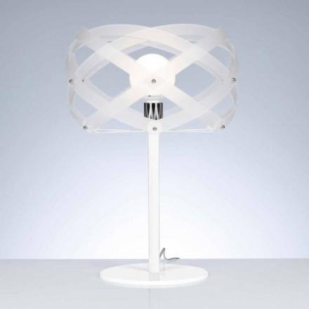 Llambë tavoline Dizajni Vanna, e bërë me përfundim saten metakrilate të bardhë