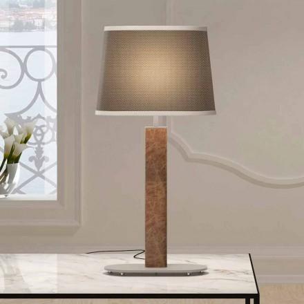 Llambë tavoline metalike me abazhur pëlhure prodhuar në Itali - Kërce