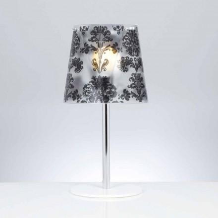 Llambë tavoline moderne polikarbonate Mara me dekorime, diamant 30 cm