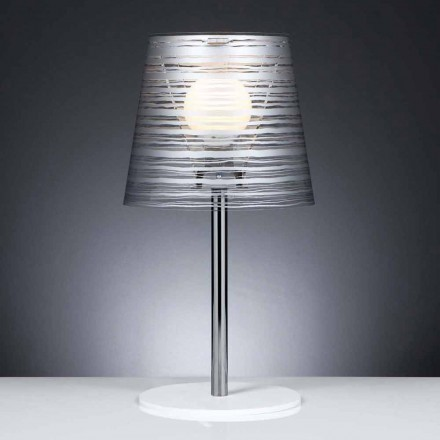 Llambë moderne tryezë / tavolinë Shana me dekorime argjendi, dietë 30 cm
