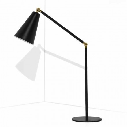 Llambë tavoline moderne me strukturë metalike prodhuar në Itali - Zaira