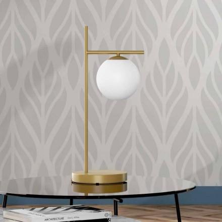 Llambë tavoline moderne në bronz dhe xham të prodhuar në Itali - Carima