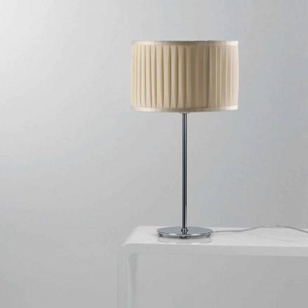 Llambë tavoline dizajni moderne Bamboo me kabllo mëndafshi me ngjyra fildishi