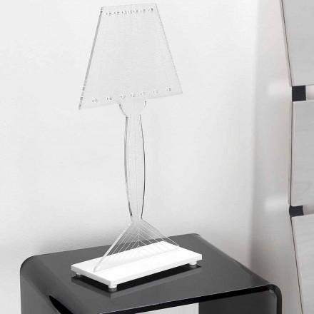 Llambë tryeze e formuar në pleksiglas, dritë LED, Ferla