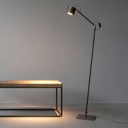 Llambë dyshemeje prej hekuri e gdhendur në dritë të punuar me dorë e prodhuar në Itali - Vanda