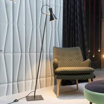 Llambë artizanale për dysheme në hekur të zi dhe alumini prodhuar në Itali - Brema