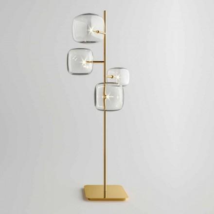 Dizajn llambë dyshemeje me strukturë metalike me shkëlqim prodhuar në Itali - Donatina