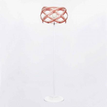 Dizajn modern llambë dyshemeje metakrilate Vanna, H 187 cm, efekt i venitur