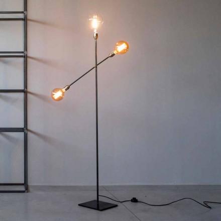Dizajni llambë dyshemeje në hekur me drita të rregullueshme prodhuar në Itali - Melita