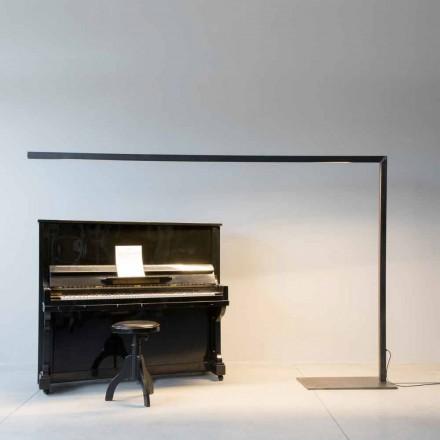 Dizajni llambë dyshemeje në hekur të zi me shirit LED të prodhuar në Itali - Barra