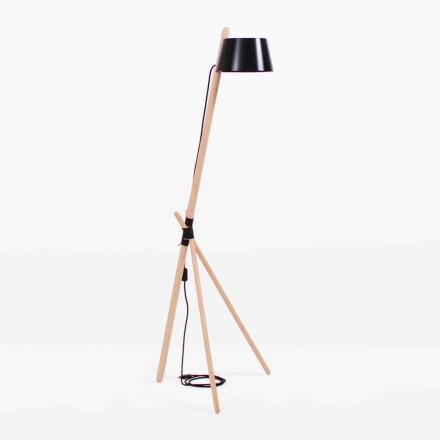 Dizajni llambë dyshemeje në dru ahu dhe metali të llakuar - Avetta