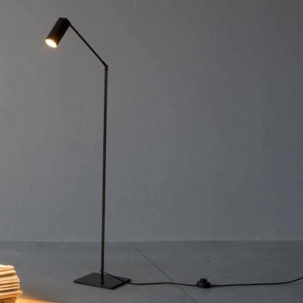Llambë dyshemeje në hekur dhe alumin me dritë të rregullueshme prodhuar në Itali - Farla