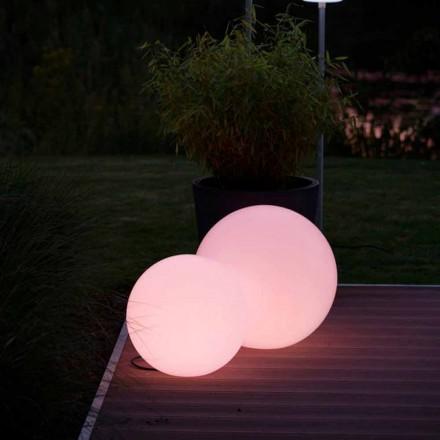 Llambë me dysheme me LED shumëngjyrësh në polietilen të bardhë, me dizajn të rrumbullakët - Globostar