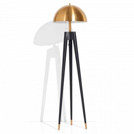 Llambë moderne për dysheme në metal dhe bronz të krehur prodhuar në Itali - Peter