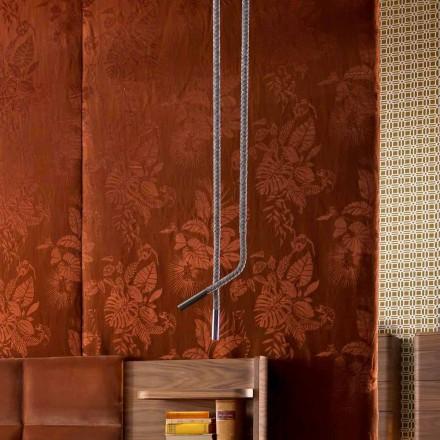 Llambë lëkure dhe dizajni metalik Grilli Snake 100% e bërë në Itali