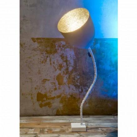 Dizajni llambë dyshemeje In-es.artesign Lule Beton i pikturuar