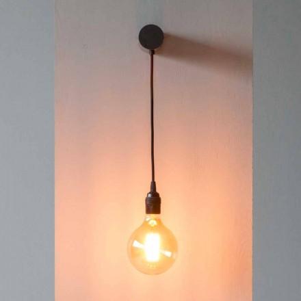 Llambë Dizajni në hekur të zi me kabllo pambuku prodhuar në Itali - Cladia