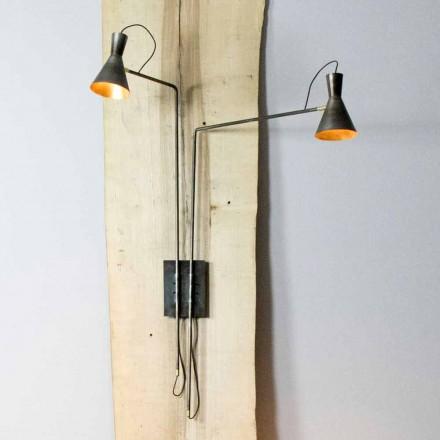 Llambë me dy mure të punuar me dorë në hekur dhe alumin të prodhuar në Itali - Selina