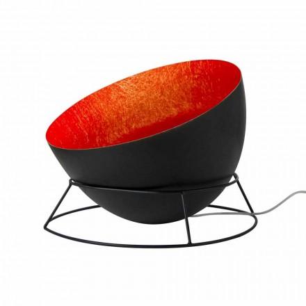 In-es. Design llambë dyshemeje me ngjyra çeliku dhe nebuliti H2o F