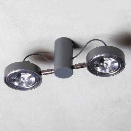 Llambë alumini me 2 drita të rregullueshme të prodhuara me dorë Prodhuar në Itali - Gemina