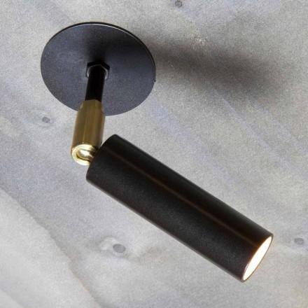 Llambë alumini e punuar me dorë me dritë LED të rregullueshme e prodhuar në Itali - Radia