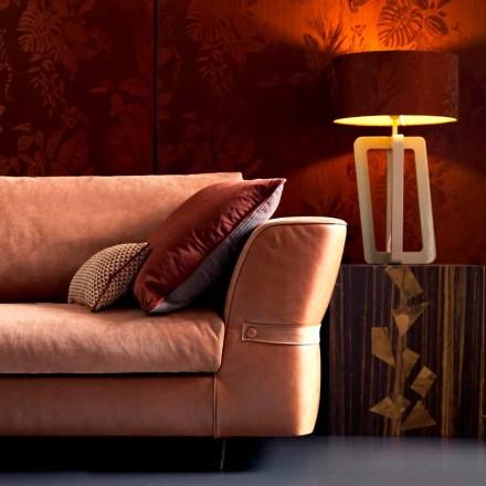 Llambë tavoline dizajni në dru të lacquered të ngurtë Grilli Barnaby e bëri Italinë